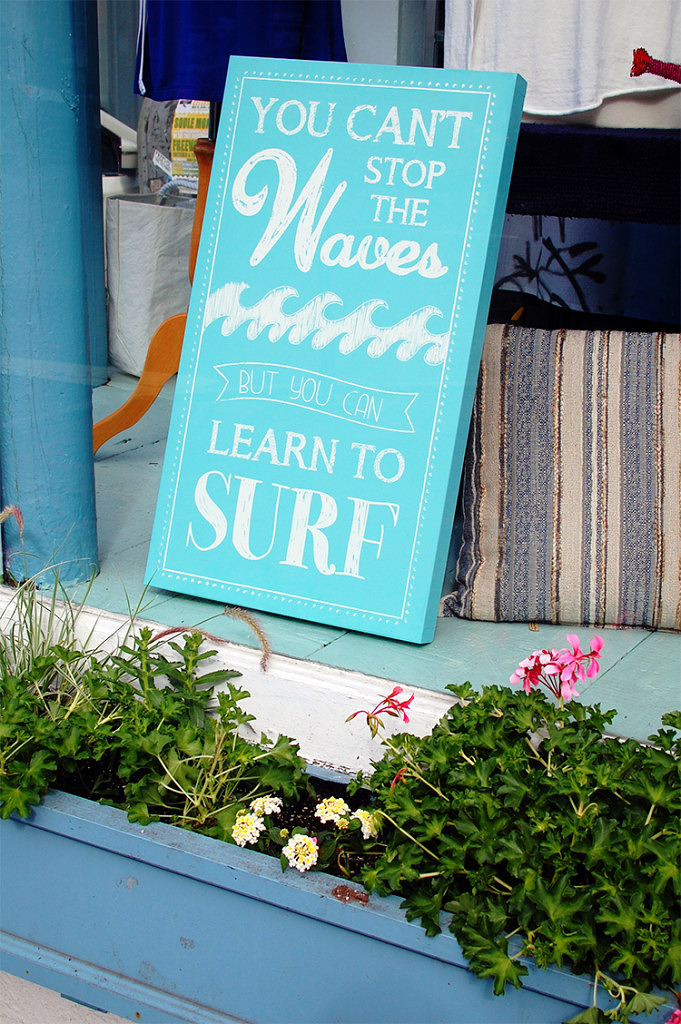 wooden beach house signs